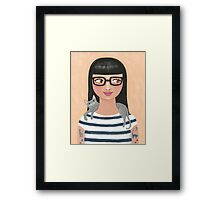 Modern Cat Lady Framed Print