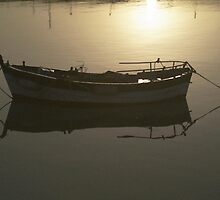 Sunrise boat, Andalucia 1 by Fred Shively