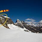 Helicopter & Glacier by David Hutcheson