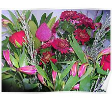 Floral Tribute for Mum and Dad Poster