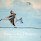 BALANCE IS A THING OF BEAUTY CARD by marlaakajake