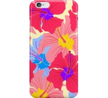pattern with hibiscus  iPhone Case/Skin