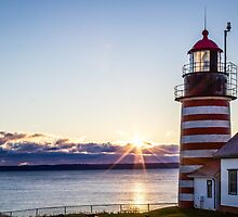 West Quoddy Lighthouse Maine Sunrise  by TKPhotos
