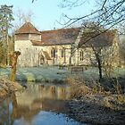 St Swithun's, Headbourne Worthy in early morning frost by Philip Mitchell