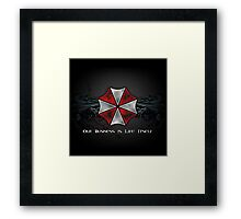 Umbrella Corporation Logo Framed Print
