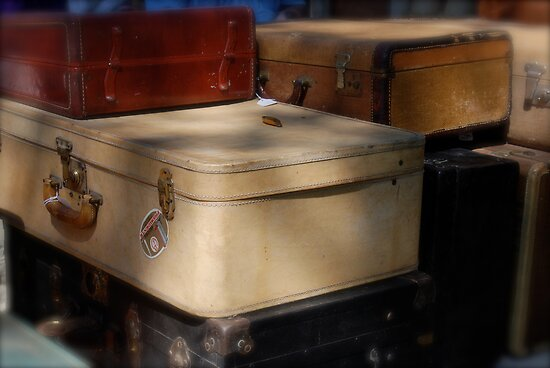 Flea Market Luggage by Robert Baker