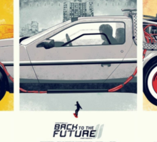 Back to the Future 1, 2, and 3 Sticker