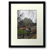 Edinburgh Castle (from Princes Street) - Scottland Framed Print