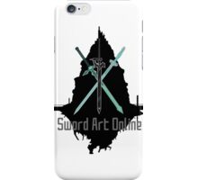 Sword Art Online Swords with Aincrad (White Background) iPhone Case/Skin