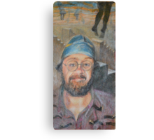 Almost All The Girls Are Taller Than Me - Portrait In Crayon Canvas Print