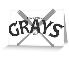 Roswell Grays Baseball Greeting Card