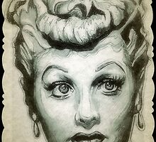 Lucille Ball drawing by RobCrandall