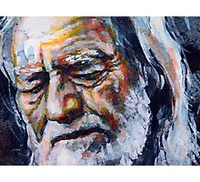 Willie Nelson watercolor Photographic Print