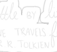 J.R.R. Tolkien Quote in Black Sticker