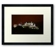 Edinburgh Castle at Night Framed Print