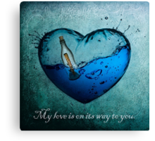 My love is on its way to you.  Canvas Print