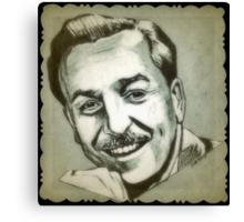 Walt Disney portrait drawing Canvas Print