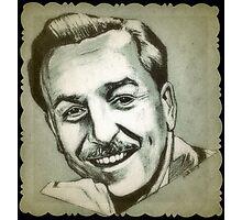 Walt Disney portrait drawing Photographic Print