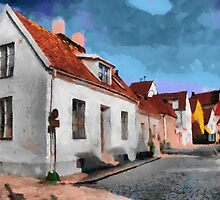 Houses in Visby by ColorfulW