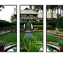 Sunken Garden Panels by Victoria DeMore