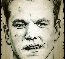 Matt Damon drawing by RobCrandall