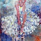 Ballet Dancer on the Stool by Ballet Dance-Artist