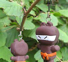 Bear-Ninja Ninja-Bear phone charm by shiro