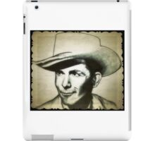 Hank Williams drawing iPad Case/Skin