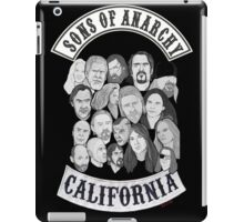 sons of anarchy character collage iPad Case/Skin