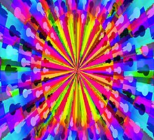 Pipe Dream #1 by CAP - Colorful Moving Optical Illusion Psychedelic Design by capartwork