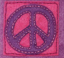Hand-Sewn Peace Sign by incurablehippie