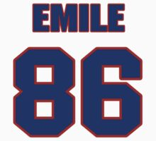 National football player Emile Harry jersey 86 by imsport