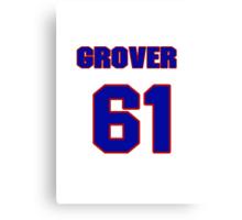 National baseball player Grover Hartley jersey 61 Canvas Print