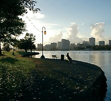 Time Is At My Side   Lake Merritt, Oakland, California by Richard  Leon