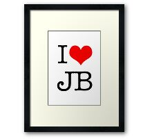 I Love JB Framed Print