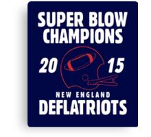 Deflate Gate - Vintage Deflatriots Super Blow Champions Canvas Print