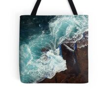 Salty water & rocks Tote Bag