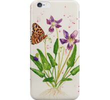 Laced Fritillary & Arrowhead Violet iPhone Case/Skin