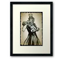 Uncle Sam comic drawing Framed Print