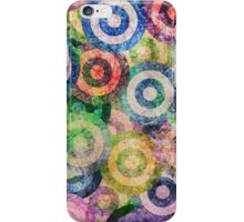 Multi Color Grunge Circles Pattern iPhone Case/Skin