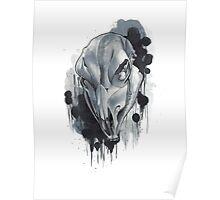 Cow Skull - White Poster