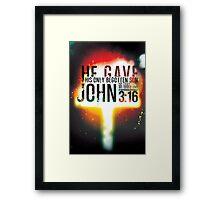 John 3:16 Framed Print