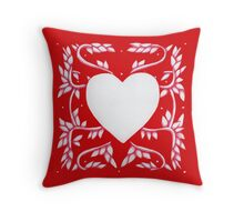 Valentine Heart Red Throw Pillow