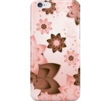 Pink & Brown Flowers iPhone Case/Skin