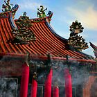 Incense -  Goddess of Mercy (Quan Yin) Temple by David Hutcheson