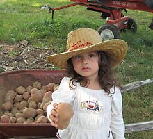 Working at Grandpa's Vegetable Stand by Ginger Lovellette