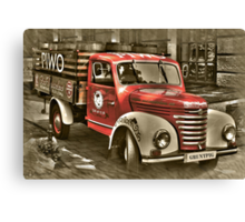old red truck , krakow Canvas Print