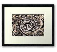 Digital Art 2 (derived from ribbon grass plant image) Framed Print