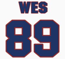 National football player Wes Grant jersey 89 T-Shirt