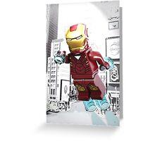 Lego Iron Man Greeting Card
